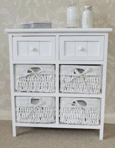 cbbeabecafacdebcf : white storage unit wicker
