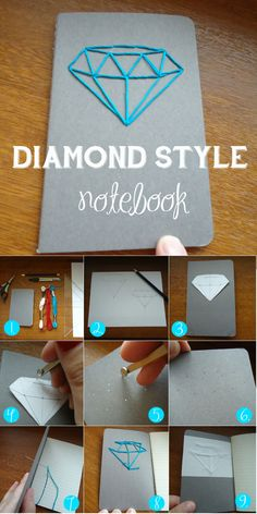 DIAMOND STYLE notebook needlework technique Easy diy how to make your notebook…