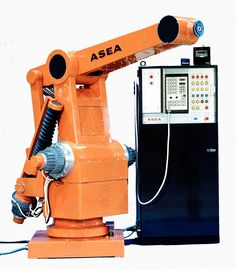 #TBT #TBT The second robot, IRB 60, developed by ASEA was launched in 1975. IRB 60 had a 60 kg capacity and the first of these was supplied to Saab in Sweden for spot welding car bodies.