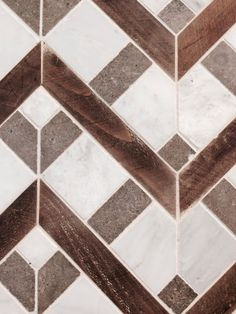Follow the zigzag lines for a great chevron pattern with depth