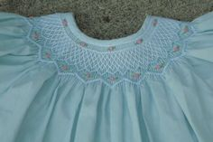 Rosalina girls hand smocked rosettes boutique dress 18 m great for easter! look