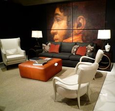 Trend: oversize art--Bernhardt Showroom at High Point
