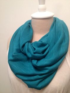 Soft Turquoise Infinity Scarf by CapurroCustoms on Etsy, $10.00