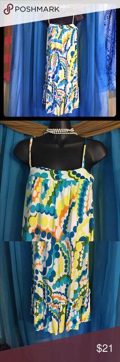 ZARA Bohemian Sundress-Size Small Light and flowing bohemian sundress with vivid colors & spaghetti straps. Retails at $55 Zara Dresses