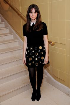 Felicity Jones at the Miu Miu pop-up club in London.