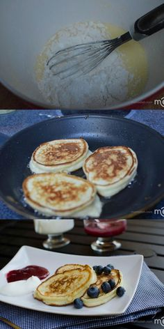 """Beautiful Russian pancakes called """"Oladi"""" they are pillow soft, light and delicious. The post Russian pancakes called """"Oladi"""" they are pillow soft, light and delici… appeared first on Trupsy . Ukrainian Recipes, Russian Recipes, Ukrainian Food, Russian Foods, Croatian Recipes, Hungarian Recipes, Oladi Recipe, Brunch Recipes, Breakfast Recipes"""