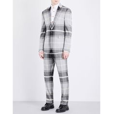Vivienne Westwood James slim-fit tartan woven suit ($1,165) ❤ liked on Polyvore featuring men's fashion, men's clothing and men's suits