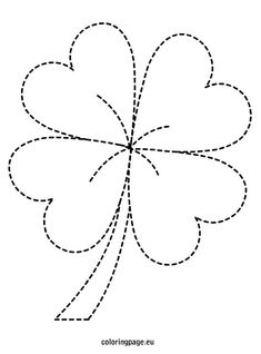 Patrick's Day - Four Leaf Clover - St. Patrick's Day – Four Leaf Clover St. Patrick's Day – Four Leaf Clover St. Patrick's D - String Art Templates, String Art Patterns, St Patricks Day Crafts For Kids, St Patrick's Day Decorations, Owl Card, Four Leaf Clover, Free Motion Quilting, Felt Flowers, Quilting Designs