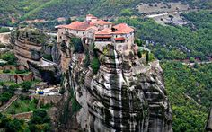 Meteora, Greece: Meteora is an area in Thessaly (Central Greece) and Kalampaka is the city under the rock towers of Meteora. The thing that makes Meteora so special is the monasteries on the top of the rock towers. The monasteries, the amound of peaks to climb and the paths for hiking brings in Meteora  the whole year many tourists.