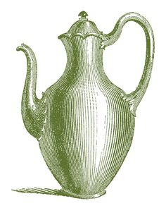*The Graphics Fairy LLC*: Royalty Free Images - Vintage Coffee Pots Graphics Fairy, Free Graphics, Pot Image, Pretty Images, Ink Pen Drawings, Ink Illustrations, Vintage Coffee, Vintage Images, Royalty Free Images
