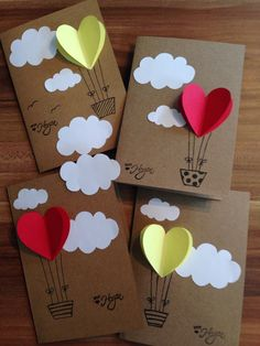 diy birthday cards for kids 40 Easy But Awesome DIY Crafts Ideas For Kids Easy Crafts, Diy And Crafts, Paper Crafts, Easy Diy, Diy Paper, Handmade Birthday Cards, Diy Birthday, Valentine Day Cards, Valentines