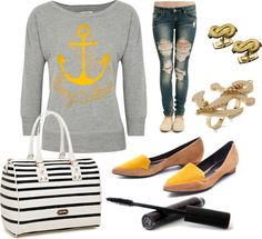 """""""Anchors Away"""" by k-cat on Polyvore"""