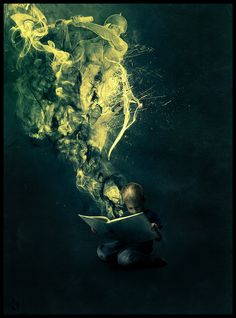 """The more that you read, the more things you will know. The more that you learn, the more places you'll go."" -Dr. Seuss', I Can Read With My Eyes Shut!    Release by Khamal25.deviantart.com"