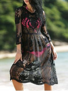 black cover-up-good for the beach