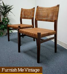 Sold: 4 Early Mid Century Flemming Lassen Style Danish Teak Chairs