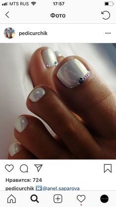 Wedding Nails-A Guide To The Perfect Manicure – Page 3794088155 – NaiLovely Gel Toe Nails, Gel Toes, Toe Nail Art, Funky Nail Designs, Classy Nail Designs, Toe Nail Designs, Pretty Toe Nails, Cute Toe Nails, Fun Nails