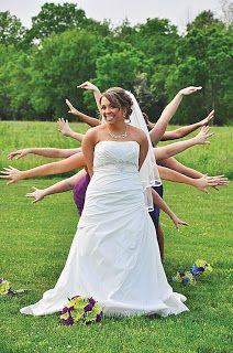 Goofy bride with lots of arms