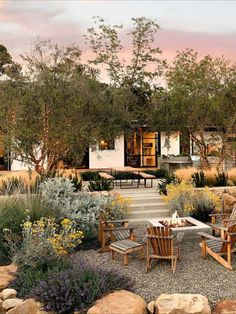 Mid-century ranch house in Montecito with indoor outdoor living Landscape Design Plans, Landscape Architecture Design, House Landscape, Landscape Edging, Landscape Art, Landscape Paintings, Herb Garden Design, Modern Garden Design, Patio Design