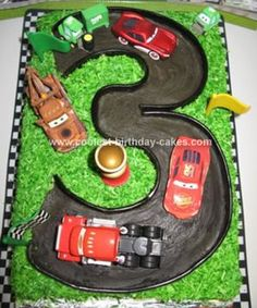 Homemade Mcqueen And Friends Cake: I made this Mcqueen And Friends Cake for my special boy for his 3rd birthday, really had fun making it! My first tip is, make sure you are not disturbed