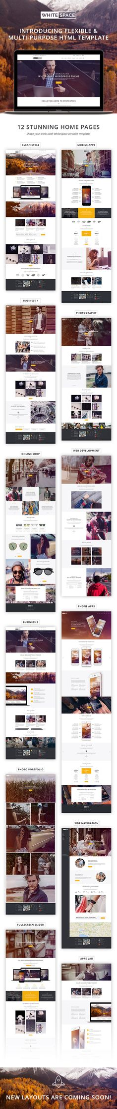 WhiteSpace – New Generation of Portfolio Templates Meet our new creative portfolio HTML template. We worked really hard on this template to meet our customers requirements. During the design proce...