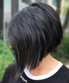 Choppy Angled Bob For Straight Hair