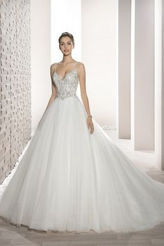 Demetrios Wedding Dress -Style 723 : Shimmering beaded embroidery and a luxurious tulle skirt create this stunning ball gown with v-neckline low v-back and chapel length train. Wedding Dress Finder, Making A Wedding Dress, Lace Wedding Dress, Bridal Party Dresses, Wedding Dresses Photos, Perfect Wedding Dress, Wedding Dress Styles, Dream Wedding Dresses, Bridal Gowns