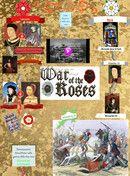 Glogster sulla guerra delle due rose
