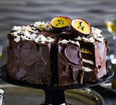 Sandwich our best-ever chocolate sponge with a fruity coconut mousse and smother in a rich ganache for a stunning party centrepiece