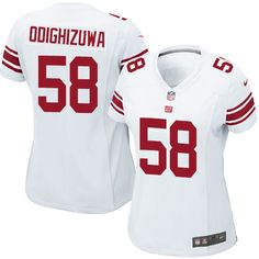 Nike Elite Owa Odighizuwa White Women's Jersey - New York Giants #58 NFL Road