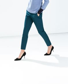DOUBLE CLOTH TROUSERS from Zara