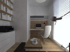 gabinet, biuro, minimalizm, drewno, biel Loft, Bed, Furniture, Design, Home Decor, Decoration Home, Stream Bed, Room Decor, Lofts