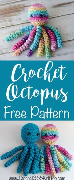 Oh my goodness!  I just love these crochet octopus!  And the pattern is so easy!