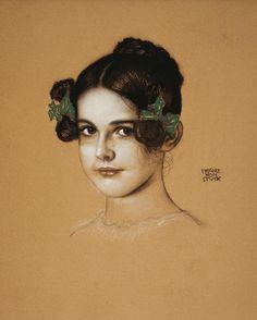 Franz von Stuck - Bildnis von Mary Stuck  (1913)