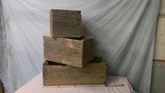 Barnwood boxes Misc. sizes