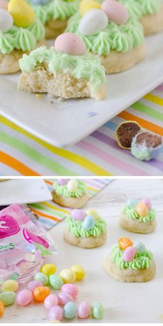 Easter Nest Sugar Cookies  | Click Pic for 22 Easy Easter Cookies for Kids to Make | Delicious Easter Cookie Recipes from Scratch