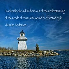 Leadership #quote Marian Anderson