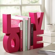 Here is a L-O-V-E bookend. http://www.pbteen.com/