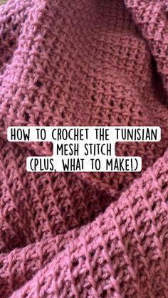 Tunisian Crochet Patterns, Baby Knitting Patterns, Stitch Patterns, Crochet Blanket Stitches, Crocheted Blankets, Crocheting Patterns, Knit Or Crochet, Intarsia Knitting, Crochet Instructions