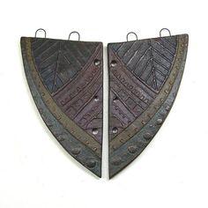 Reversible Two Piece Handmade Ceramic Jewelry by BHClaysmith