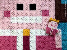 Queen crochet pixel blanket