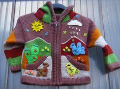 Kinderjacke cardigan for kids Größe 110 ungefüttert Kapuze Bommel Neu! | eBay