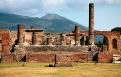 If you're a history buff or just enjoy learning about events that made the history books, a visit to the ruins of Pompeii or Herculaneum should be on your radar Holland America Cruises, Holland America Line, Pompeii Ruins, Pompeii And Herculaneum, Cruise Destinations, Frozen In Time, History Books, Naples, So Little Time