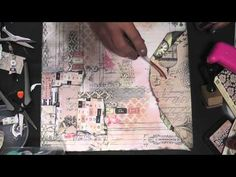 Layout Friday Tutorial - Wishes and Dreams Layout by Limor Webber (she uses Prima chalk fluid edger ink)