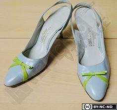 Sandali Vintage Azzurri Anni 50 con punta chiusa e di RCClo