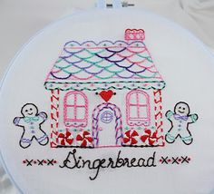 Gingerbread House Embroidery