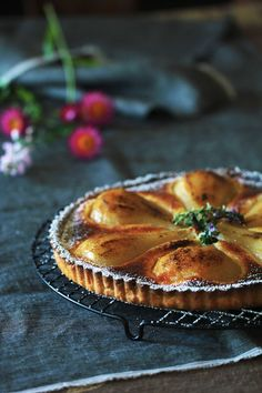~ e l r a ~: Poached Pear Tart With Lemony Cream Filling. Possibly one of the best you will l ever tasted ;)