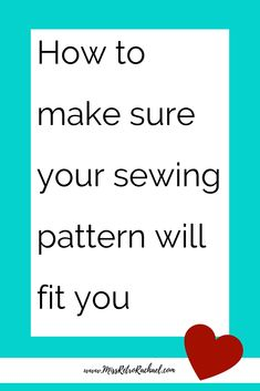 Sewing Techniques Couture How to make sure your sewing pattern will fit you every time. Learn about fitting and why it is so important. Sewing Hacks, Sewing Tutorials, Sewing Tips, Sewing Ideas, Sewing Lessons, Sewing Crafts, Sewing Basics, Learn To Sew, How To Make