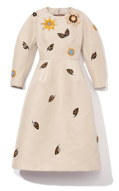 Embellished Sculpted Long Sleeve Dress by Delpozo for Preorder on Moda Operandi