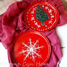 Christmas decorative plates