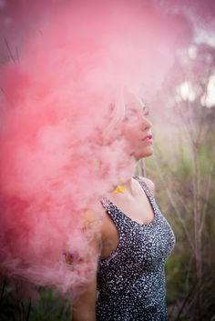 Dahlberg Photography - senior pictures- pink smoke bomb - smoke bomb photography - tampa senior -